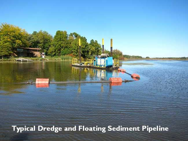typical dredge and floating pipeline